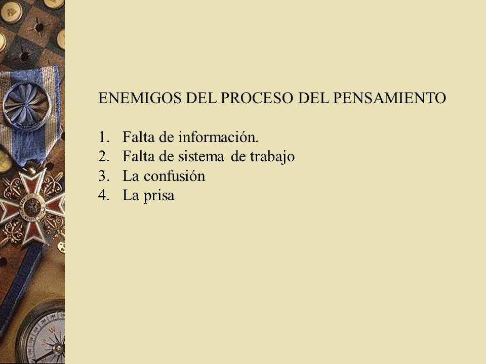 ENEMIGOS DEL PROCESO DEL PENSAMIENTO