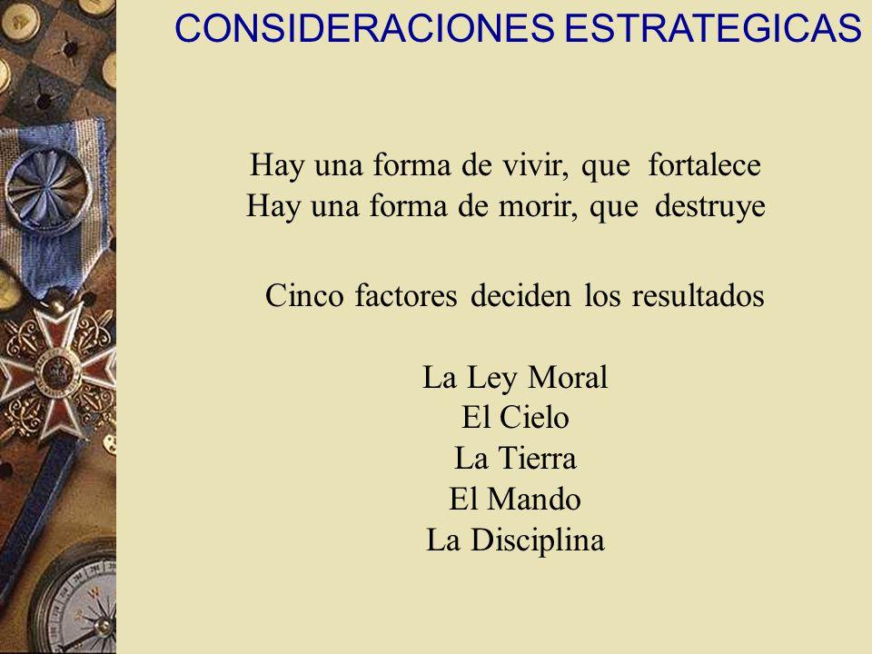 CONSIDERACIONES ESTRATEGICAS