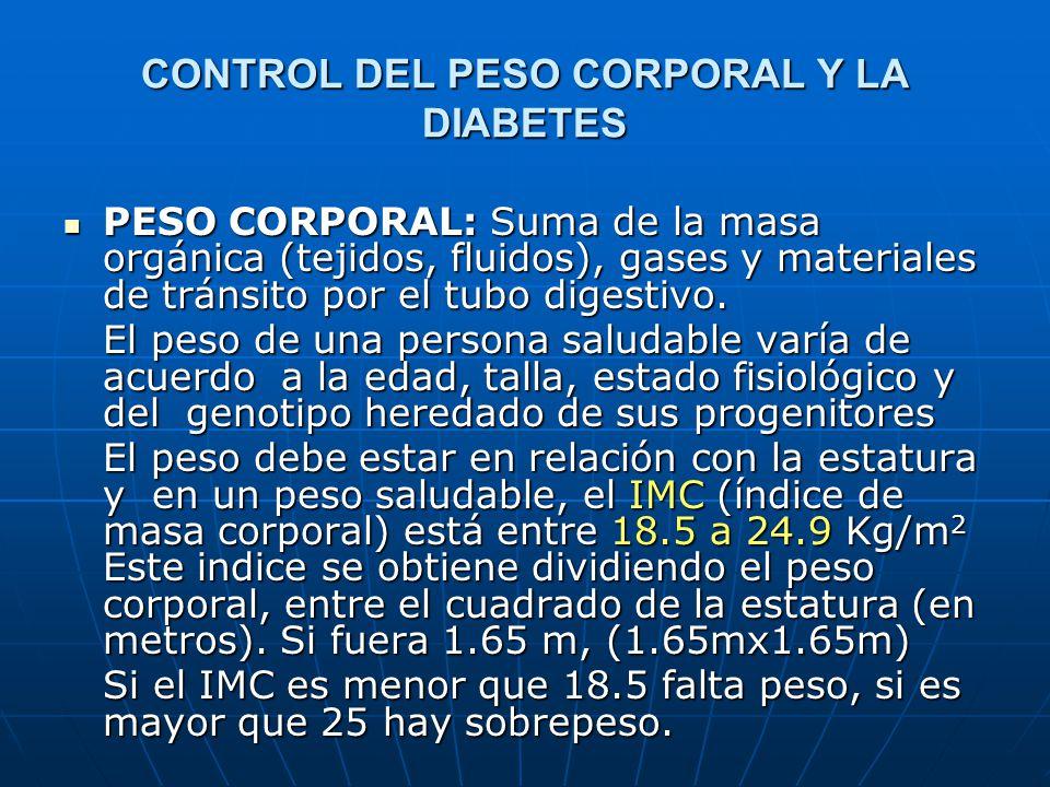 CONTROL DEL PESO CORPORAL Y LA DIABETES