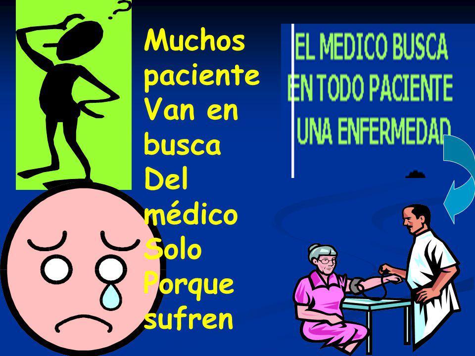 Muchos paciente Van en busca Del médico Solo Porque sufren