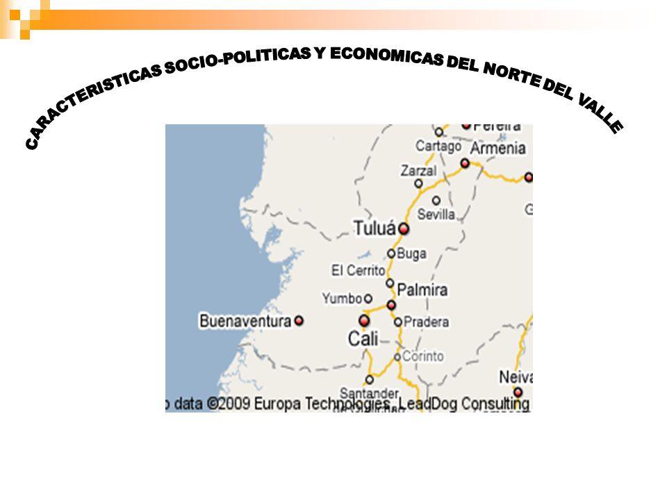 CARACTERISTICAS SOCIO-POLITICAS Y ECONOMICAS DEL NORTE DEL VALLE