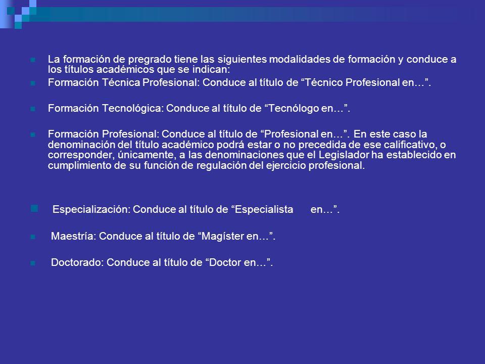 Especialización: Conduce al título de Especialista en… .