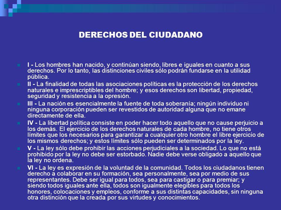 DERECHOS DEL CIUDADANO