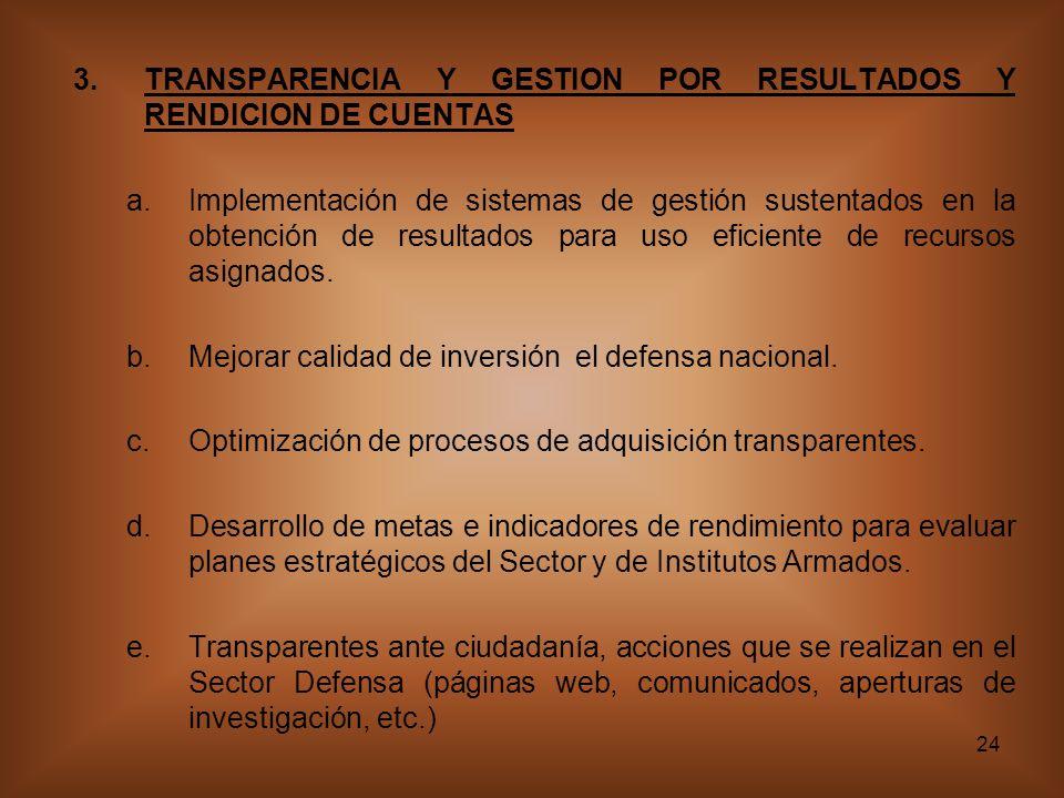 TRANSPARENCIA Y GESTION POR RESULTADOS Y RENDICION DE CUENTAS