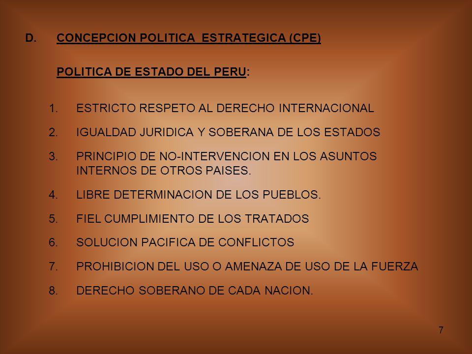D. CONCEPCION POLITICA ESTRATEGICA (CPE)