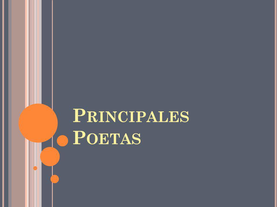Principales Poetas