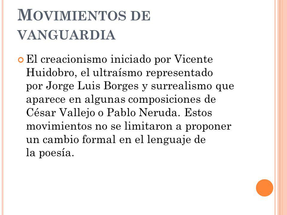Movimientos de vanguardia
