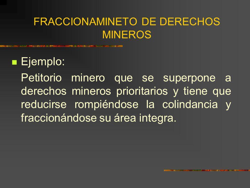 FRACCIONAMINETO DE DERECHOS MINEROS