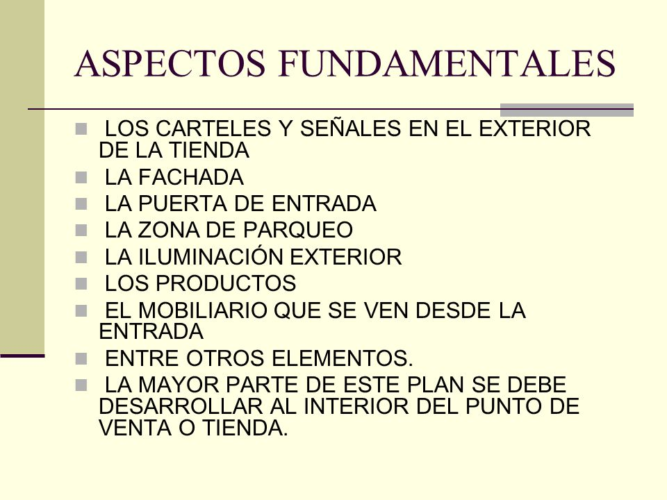 ASPECTOS FUNDAMENTALES