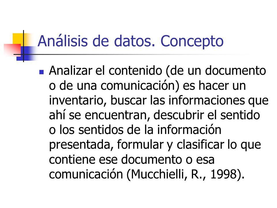 Análisis de datos. Concepto