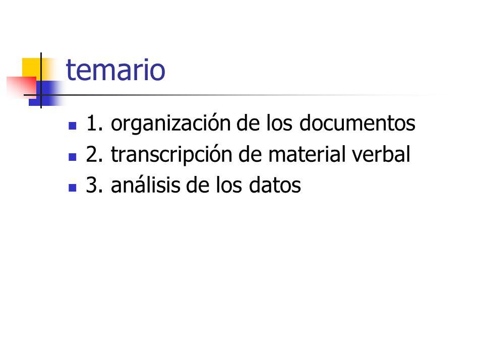 temario 1. organización de los documentos