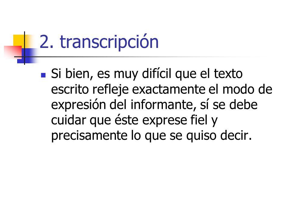 2. transcripción