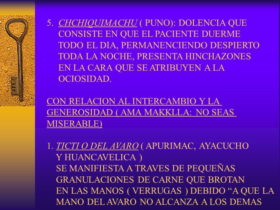 5. CHCHIQUIMACHU ( PUNO): DOLENCIA QUE