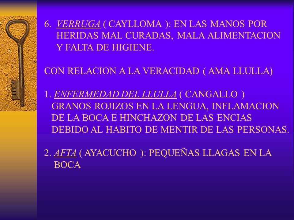 6. VERRUGA ( CAYLLOMA ): EN LAS MANOS POR