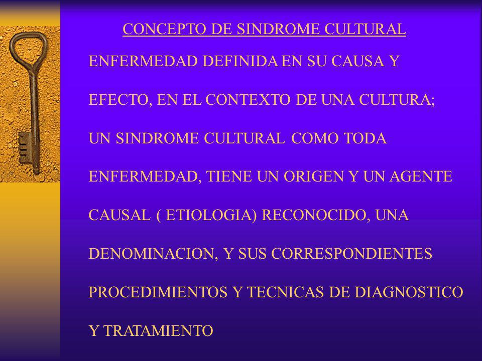CONCEPTO DE SINDROME CULTURAL