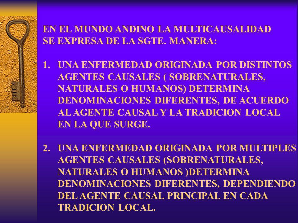 EN EL MUNDO ANDINO LA MULTICAUSALIDAD