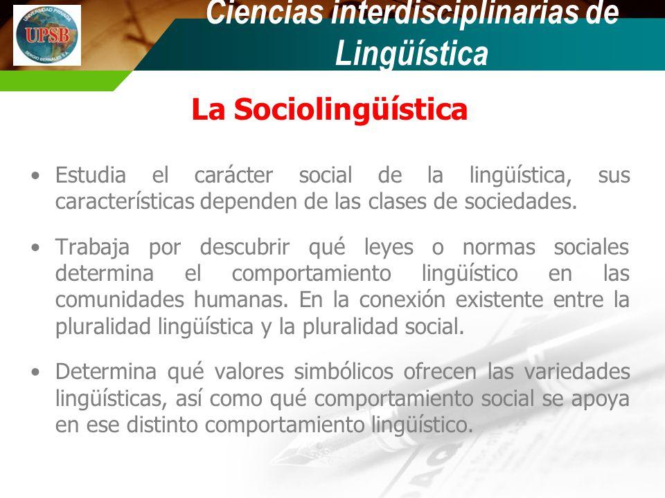 Ciencias interdisciplinarias de Lingüística