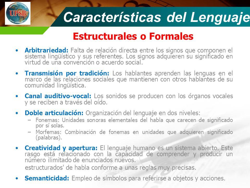 Estructurales o Formales