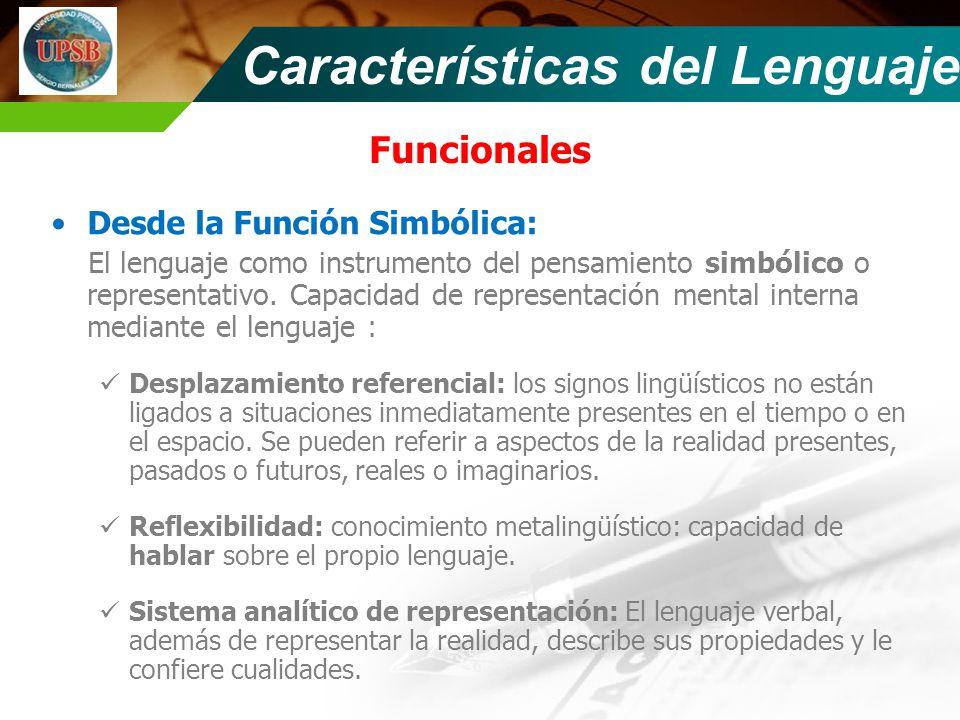 Características del Lenguaje