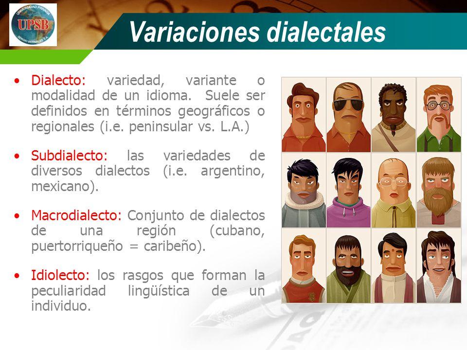 Variaciones dialectales