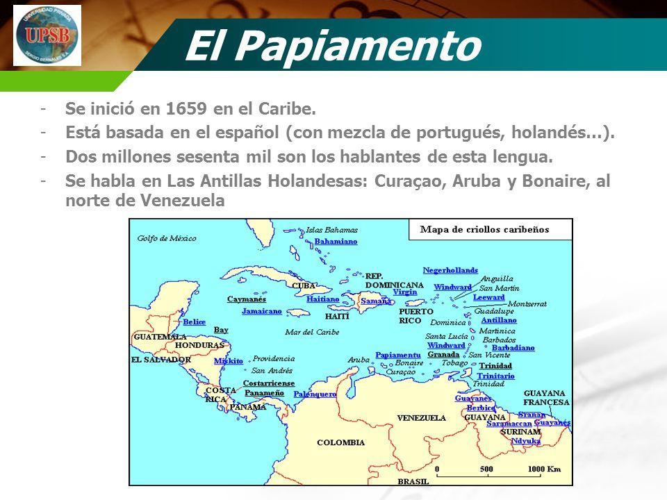 El Papiamento Se inició en 1659 en el Caribe.