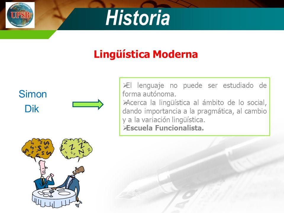Historia Lingüística Moderna Simon Dik