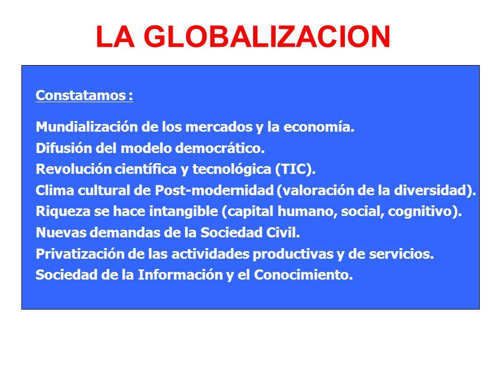 LA GLOBALIZACION Constatamos :
