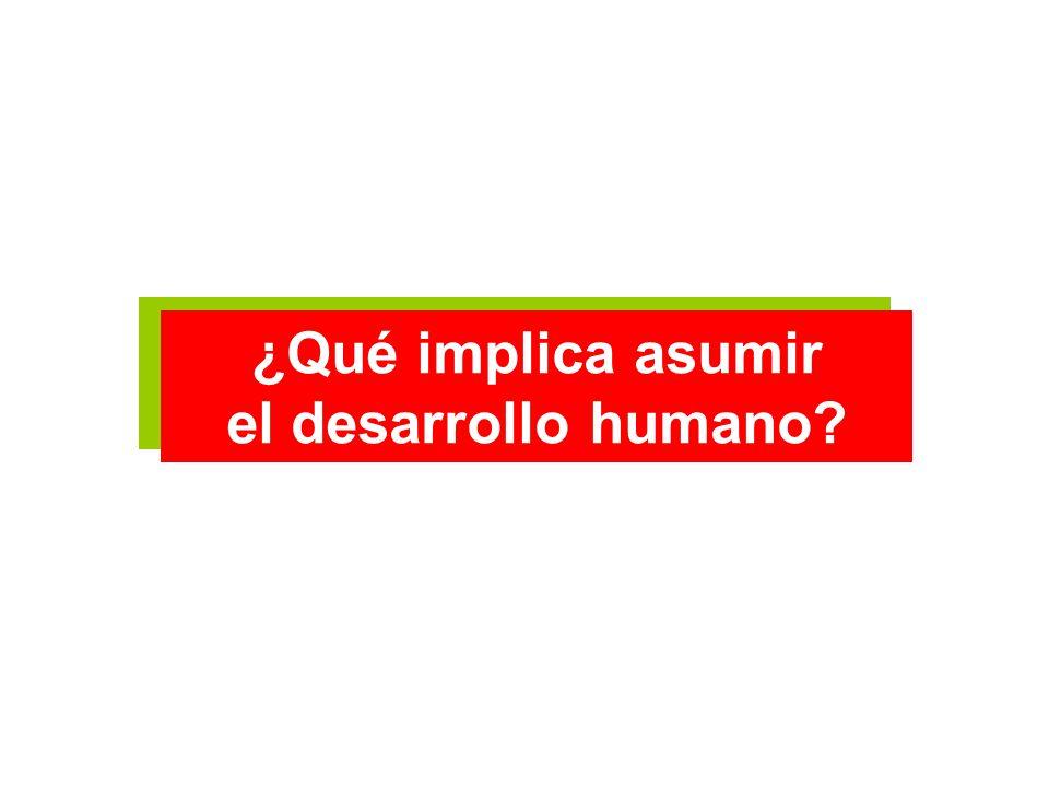 ¿Qué implica asumir el desarrollo humano