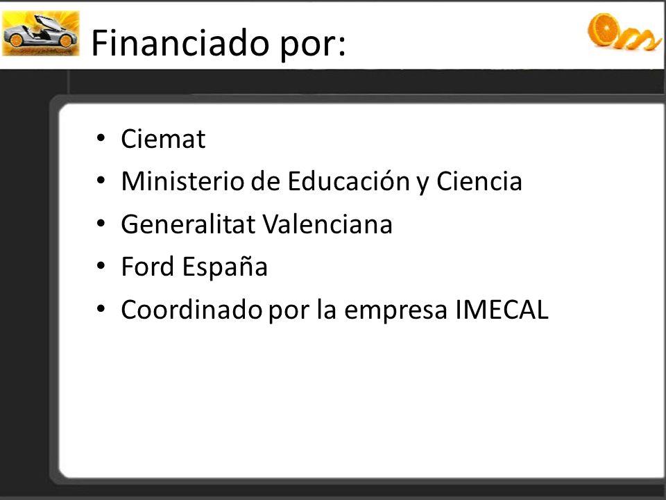 Financiado por: Ciemat Ministerio de Educación y Ciencia