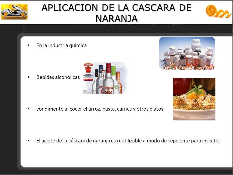 APLICACION DE LA CASCARA DE NARANJA