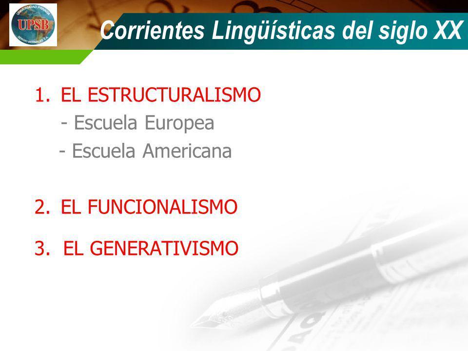 Corrientes Lingüísticas del siglo XX