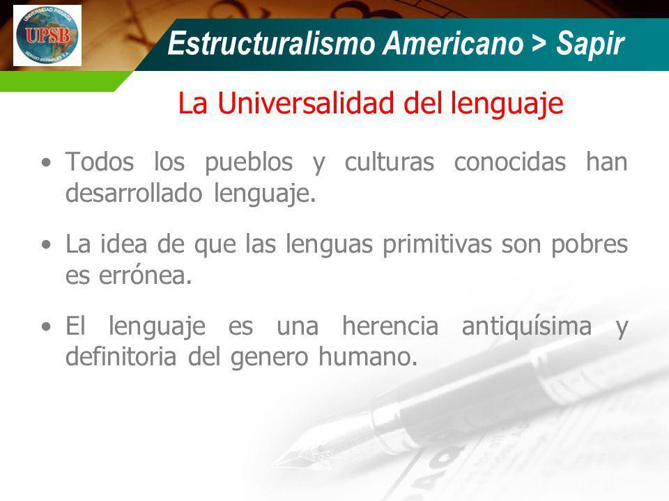 La Universalidad del lenguaje
