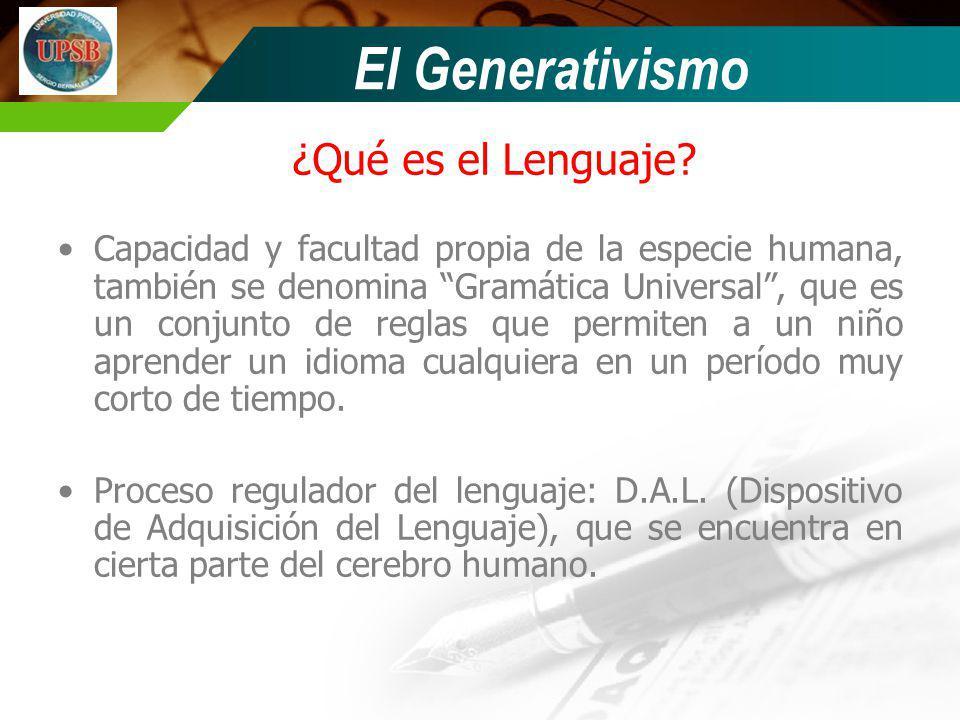 El Generativismo ¿Qué es el Lenguaje
