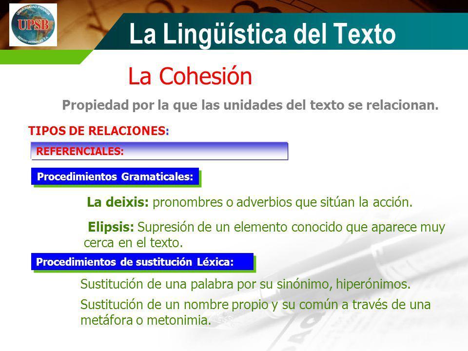 Procedimientos Gramaticales: