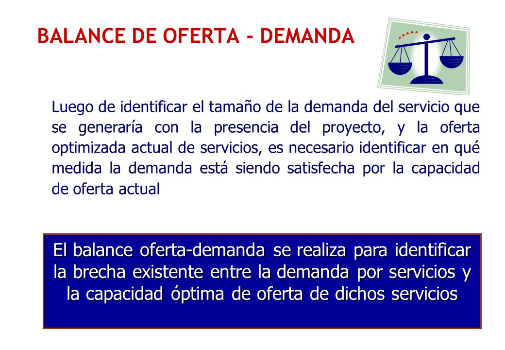 BALANCE DE OFERTA - DEMANDA