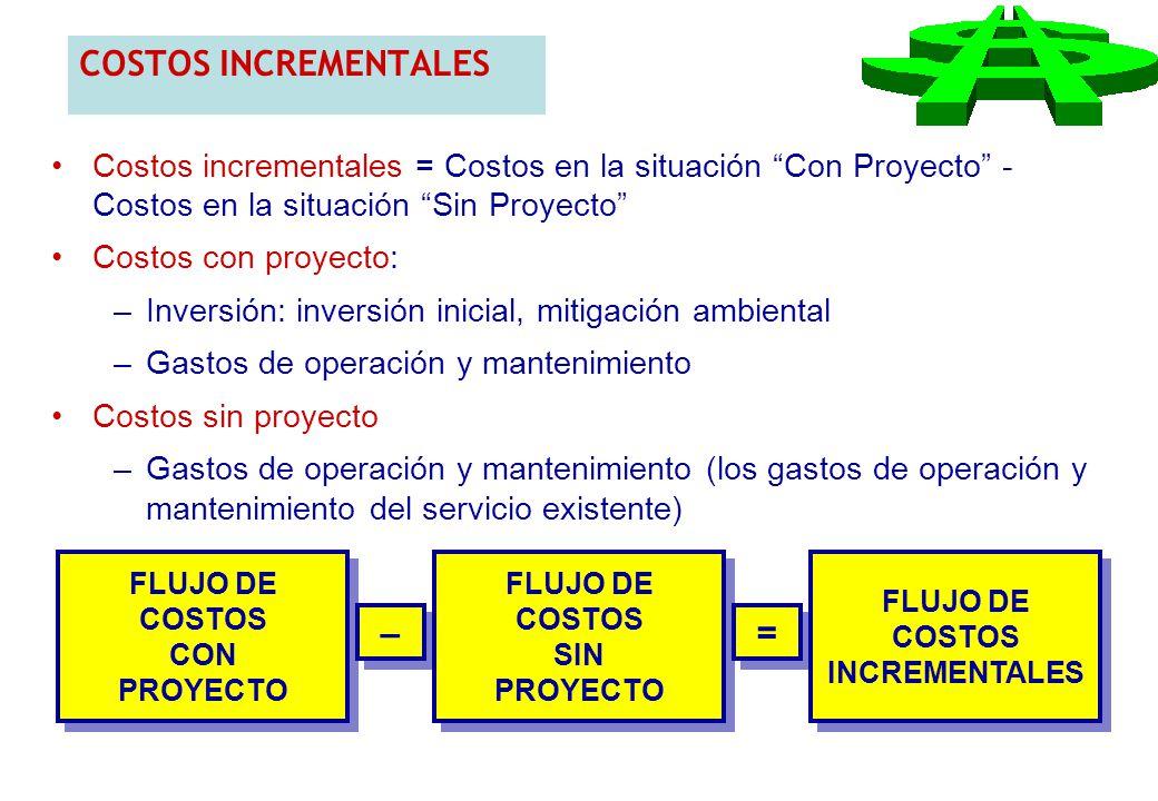 COSTOS INCREMENTALES – =