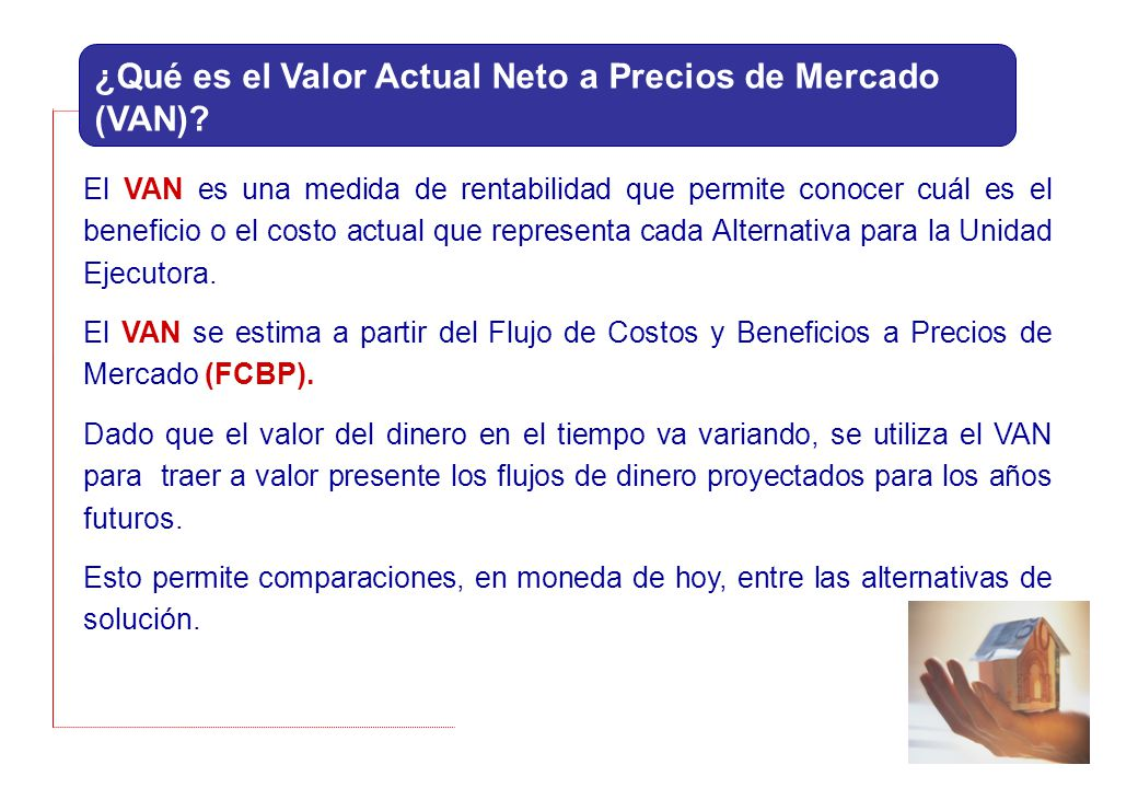 ¿Qué es el Valor Actual Neto a Precios de Mercado (VAN)
