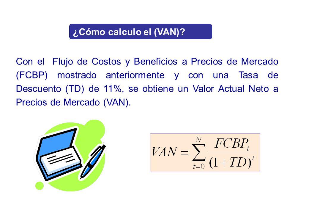 ¿Cómo calculo el (VAN)