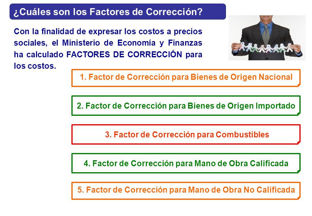 ¿Cuáles son los Factores de Corrección
