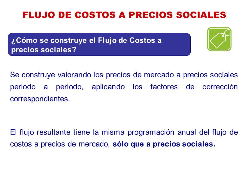 FLUJO DE COSTOS A PRECIOS SOCIALES