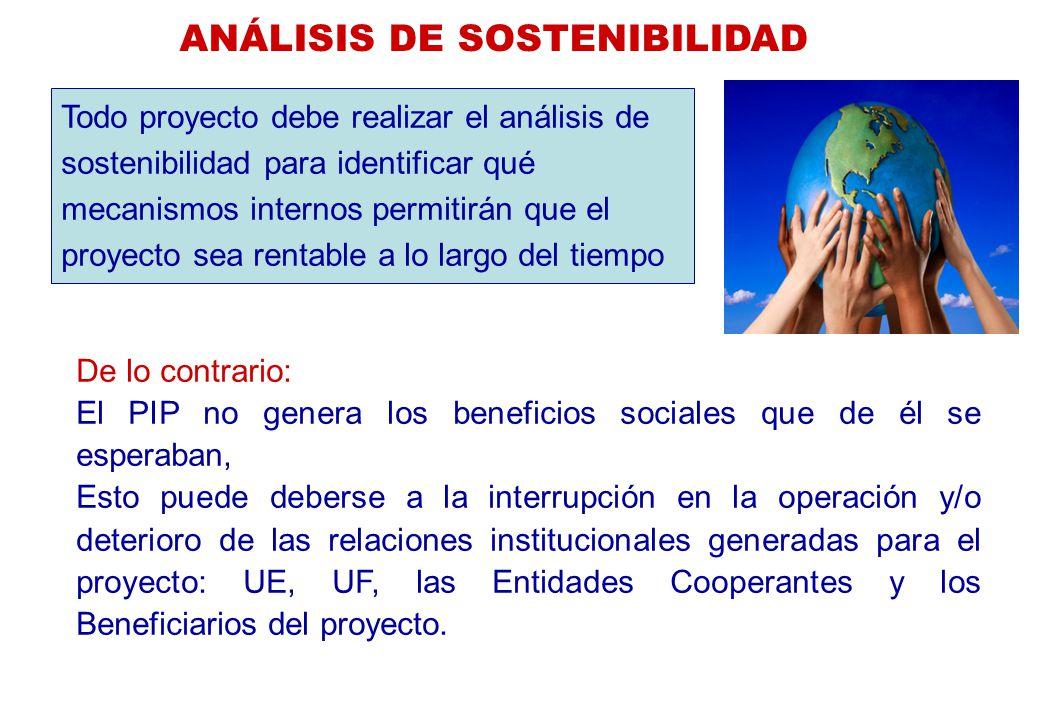 ANÁLISIS DE SOSTENIBILIDAD