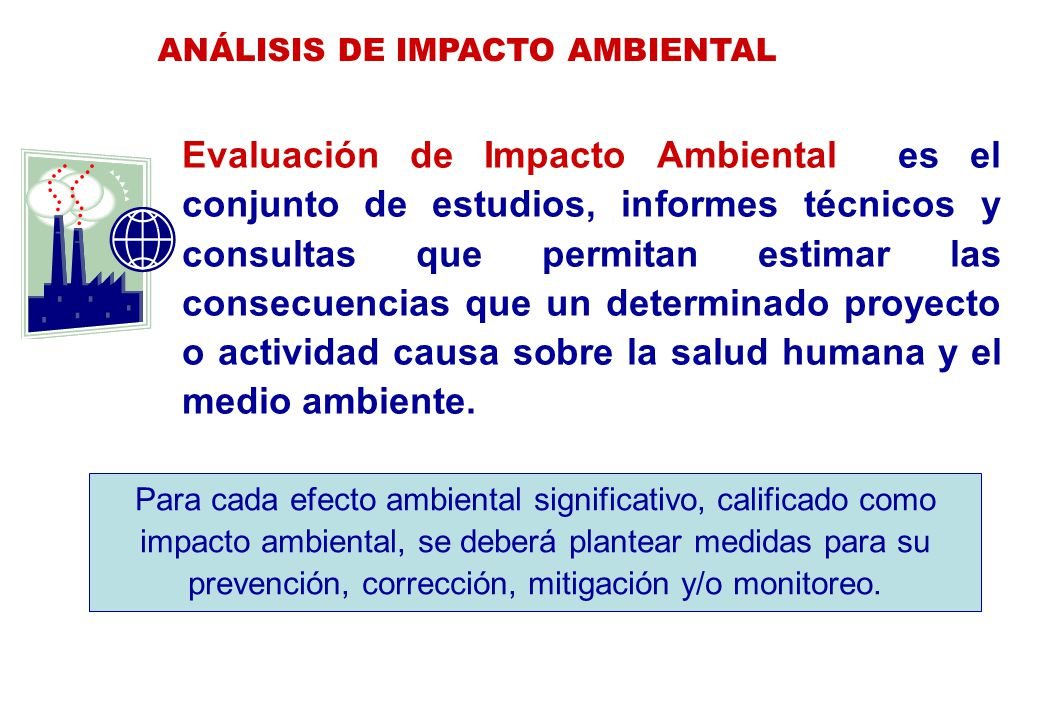 ANÁLISIS DE IMPACTO AMBIENTAL