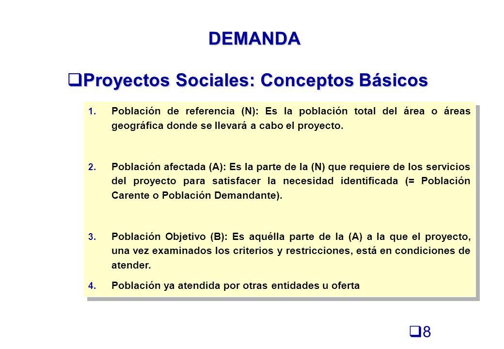 Proyectos Sociales: Conceptos Básicos