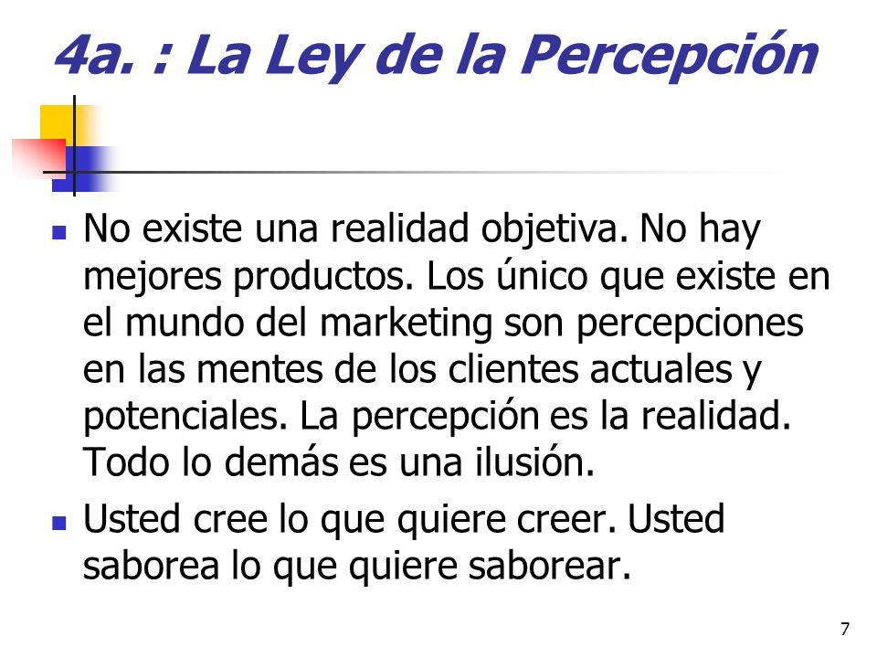 4a. : La Ley de la Percepción