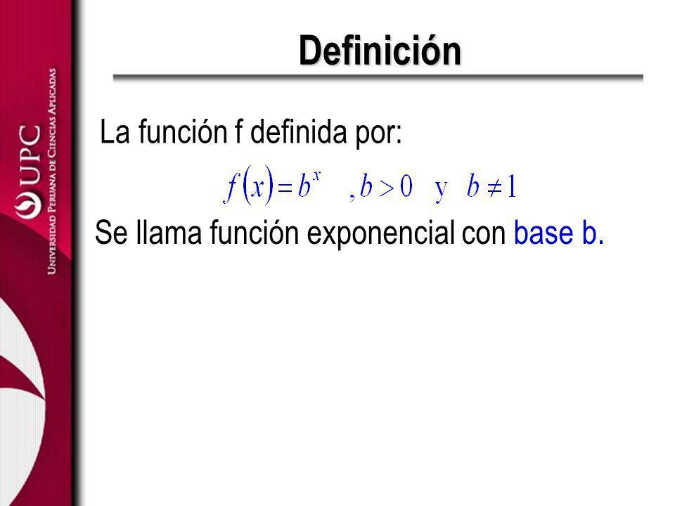 Definición La función f definida por: