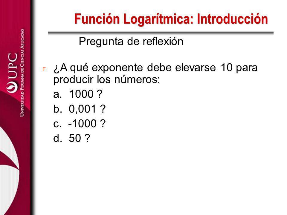 Función Logarítmica: Introducción