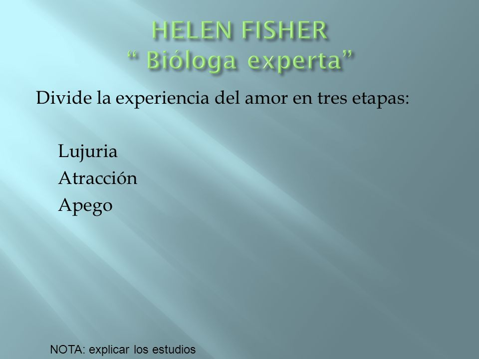 HELEN FISHER Bióloga experta
