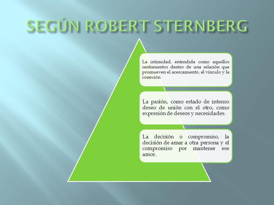 SEGÚN ROBERT STERNBERG