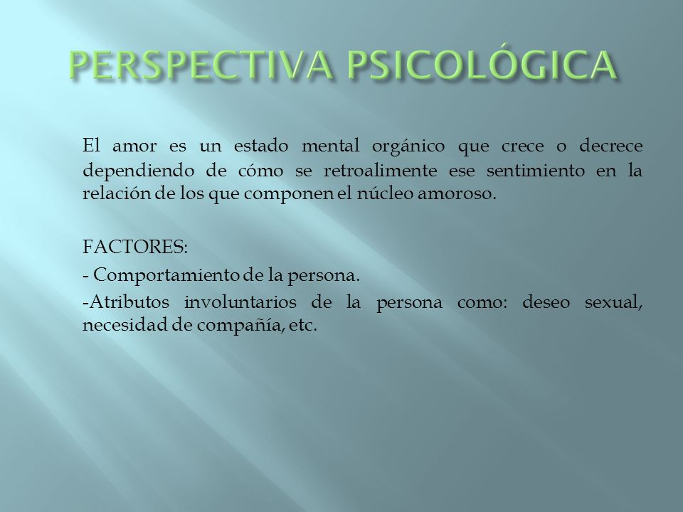 PERSPECTIVA PSICOLÓGICA
