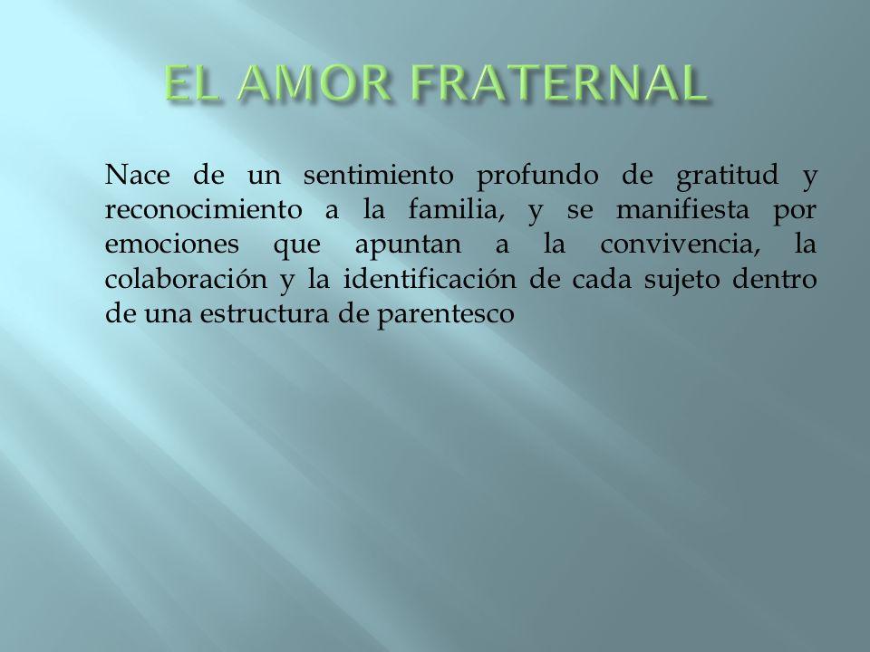 EL AMOR FRATERNAL
